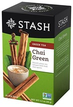 Stash Tea Green Chai Tea 20 Count Tea Bags in Foil Pack of 6 Individual ... - $11.66