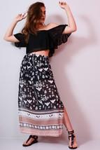 Lovemystyle Chiffon Maxi Skirt With Side Split - $13.99+
