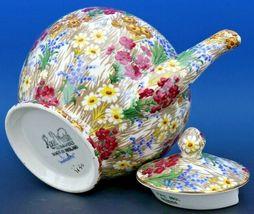 Vintage Royal Winton Marguerite Floral Chintz Teapot image 5