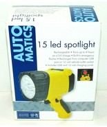 15 LED SPOTLIGHT RECHARGEABLE RUNS UP TO 4 HOURS + EMERGENCY FLASHER BRA... - $4.99