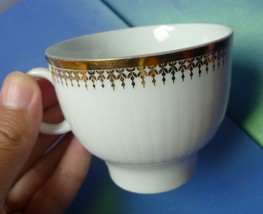 Vintage Pottery Dinnerware Germany Winterling Bavaria White Gold trim CUP marked - $4.00