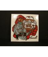 Cleo Teissedre Ceramic Tile 6x6 HandPainted  Southwestern Woman w Jug - $9.50