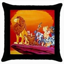 Throw pillow case lion king jungle animals  - $19.50
