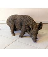 Plastik Skulptur Wildschwein Jagdmotiv Jadg Hunter wild boar sculpture c... - $127.68