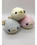 SAN-X Mamegoma Pink Blue Hamster Color Long Hair Plush Seal Choose 1 Fro... - $23.75