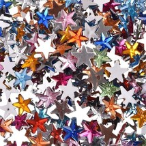 "Lot of 50 Small STARS 3/8"" (10mm) Flatback Craft Scrapbook Pieces (7954) - $2.96"