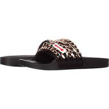 Steve Madden Chains Chain Link Slide Sandals 756, Black, 8 US - $25.90