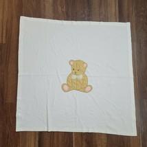 Ikea Baby Soft Velour Teddy Bear Blanket Brumbjorn Cream Ivory 1-ply Tan Pink - $79.19