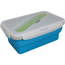 Eco Vessel Collapsible Single Compartment Food Container Blu - $15.26