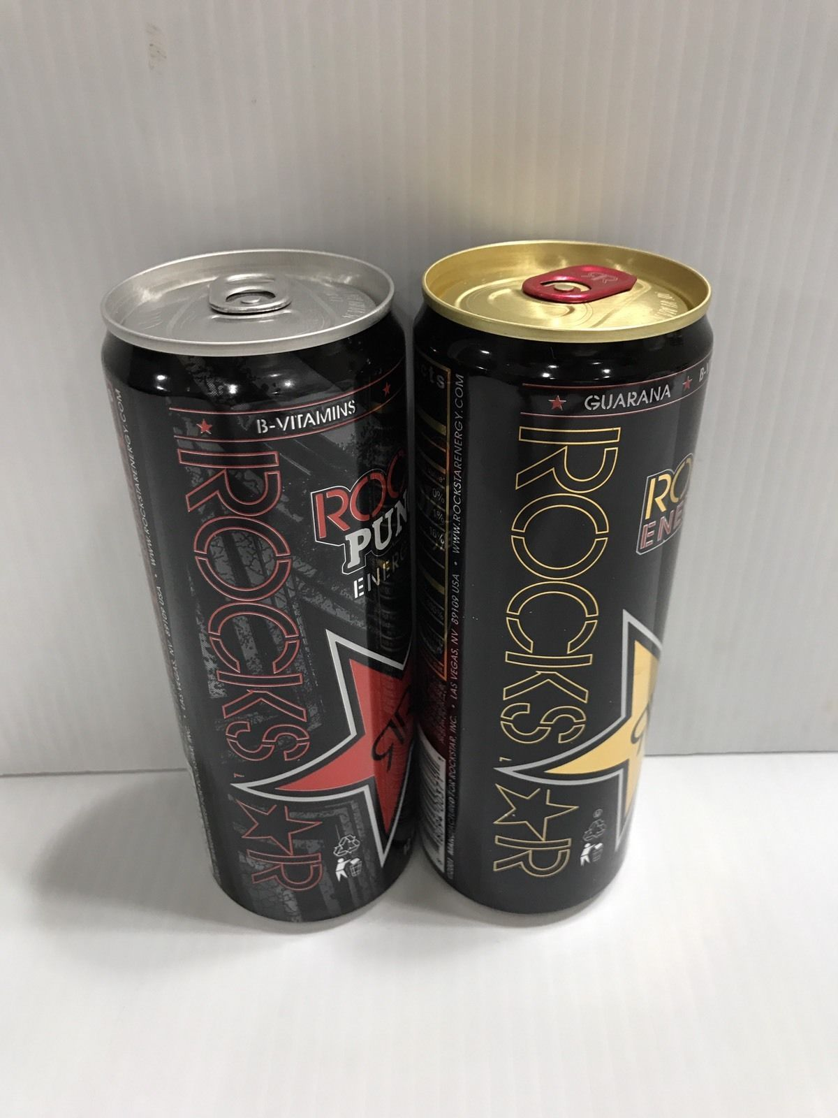 Rockstar Energy Drink 12oz Original & Fruit Punch Full Collectors Can