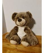 "KellyToy Plush Super Soft Glittery Eyed Brown Bear 9"" stays in Sitting P... - $14.87"