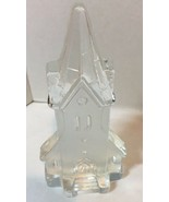 Nybro Glass Crystal Sweden Church Candle Holder Votive Swedish - $15.99