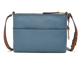 New Fossil Women Fiona Leather Small Crossbody Bag Variety Colors - $74.24+