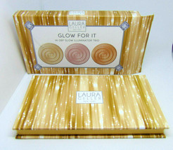 Laura Geller Glow For It Hi-Def Glow Illuminator Trio Nib - $14.22