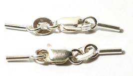 925 STERLING SILVER 4mm CRIMP SET w/ 6mm LOBSTER CLAW - 0.8mm INSIDE DIAMETER