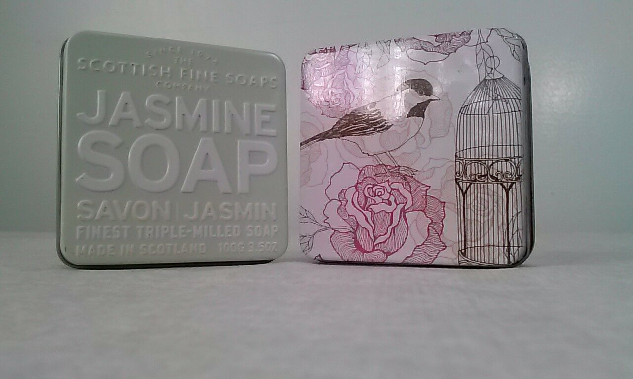 The Scottish Fine Soaps Co Soap Bar in a Tin Pink Amber Rose Jasmine 3.5oz LOT 2