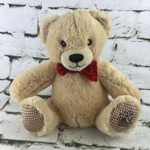"EDI BEAR Plush Edible Arrangements Tan 9"" Soft Toy Red Bow Stuffed Animal - $11.88"