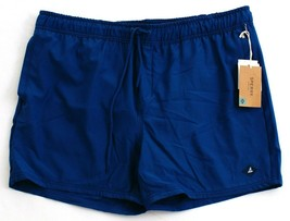 Sperry Invisible Shark Fin Blue Stretch Brief Lined Volley Swim Trunks M... - $44.99