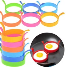 Omelette Mold Silicone Round Shape Nonstick Creative Fry Cooking Kitchen... - $7.98 CAD