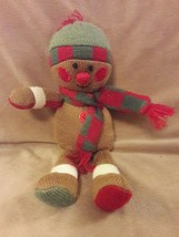 "Animal Adventure Knit Sock Gingerbread Man Christmas Plush Stuffed Toy 2011 10"" - $8.41"