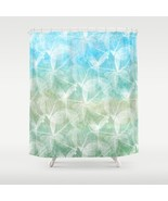Shower curtains art shower curtain Design 45 bl... - $69.99