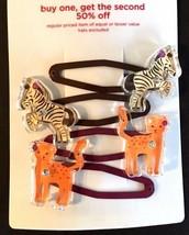 Gymboree Savanna Sunset Barrette Clip Snap NWT Animal Leon Zebra Orange Brown - $24.95