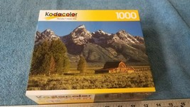 Kodacolor 1000 Piece Jigsaw Puzzle OLD BARN AT GRAND TETON new sealed - $14.25