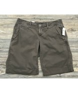 "Gap ""The Boyfriend Roll-Up"" Shorts Brown Cotton Chino Lightweight NWT - $16.82"