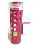 """Ello 20 oz Glass Water Bottle Bright Pink Cancer Prevention Edition 10"""" NEW - $24.74"""