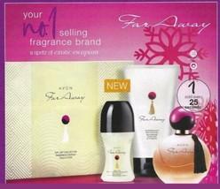 3pc Avon Far Away Gift Set New In Box Birthday Gift for Her Ladies Perfume Set - $12.52