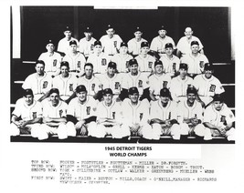 1945 Detroit Tigers 8X10 Team Photo Baseball Mlb Picture World Champs - $3.95