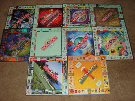 Lot of 10 Monopoly Game Boards ONLY - Spongebob Disney LOTR Star Wars +++ d - $10.00