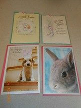 New Lot 4 Hallmark glitter sparkle Easter Greeting cards & envelopes mis... - $6.44