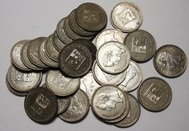 50 Centimos Venezuela 2.5 Gram .835 Fine Silver (30 COINS) Lot # N 372