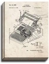 Chinese Typewriter Patent Print Old Look on Canvas - $39.95+