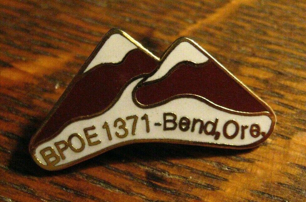 Bend Oregon Elks Club Pin - Vintage BPOE 1371 Elk Lodge OR USA Member Badge Pin