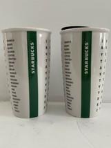 TWO Starbucks Word Search 2016 Double Wall Ceramic Tumbler Splash Guard ... - $25.00