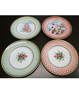 Fitz & Floyd Winter Holiday $ Different Salad Plates - $88.99
