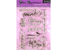 Clear Expressions by Hampton Art Travel Time Clear Stamp Set #CS4251