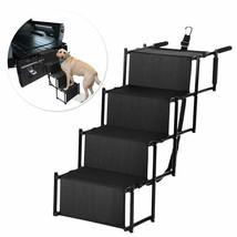 Folding Dog Pet Steps Ramp Stairs Car Boot Portable Ladder Metal Accordion - $39.91