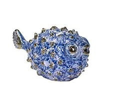 "Sagebrook Home 10574 Ceramic Fish Figurine, Blue Ceramic, (8"" x 4.5"" x 5... - $38.63"