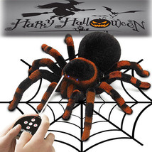 Rc Tarantula Spider Remote Control 4CH Scary Creepy Soft Plush Fun Kid G... - $27.54