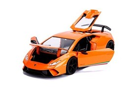 Jada 99355-MJ 1:24 Hyper-Spec-Lamborghini Huracan Performante Orange Die... - $41.83