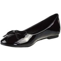 ELLIE Shoes Ballet Flat Bow Classic Womens Patent 016-MILA Black - $28.95