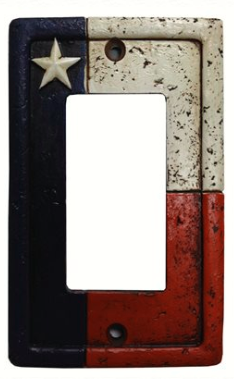 Cowgirl Kim Texas Flag Single Switch Rocker Plate Cover
