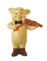 Danbury Mint Pig Ornament Piggies collection Piganini Violin Player Music - $25.56