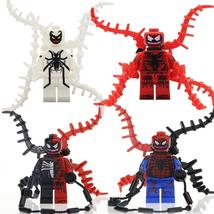 Venom Minifigure Spiderman Marvel Figure Super Hero Single Sale Lego Blo... - $1.99