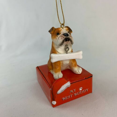 Primary image for My Best Buddy Bulldog Christmas Ornament NEW - M1399