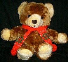 "20"" VINTAGE 1986 COMMONWEALTH CHRISTMAS TEDDY BEAR STUFFED ANIMAL PLUSH ... - $41.23"