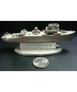 Franklin Mint Pewter Minesweeper Ship WWII Edition 1990 Release - $19.95